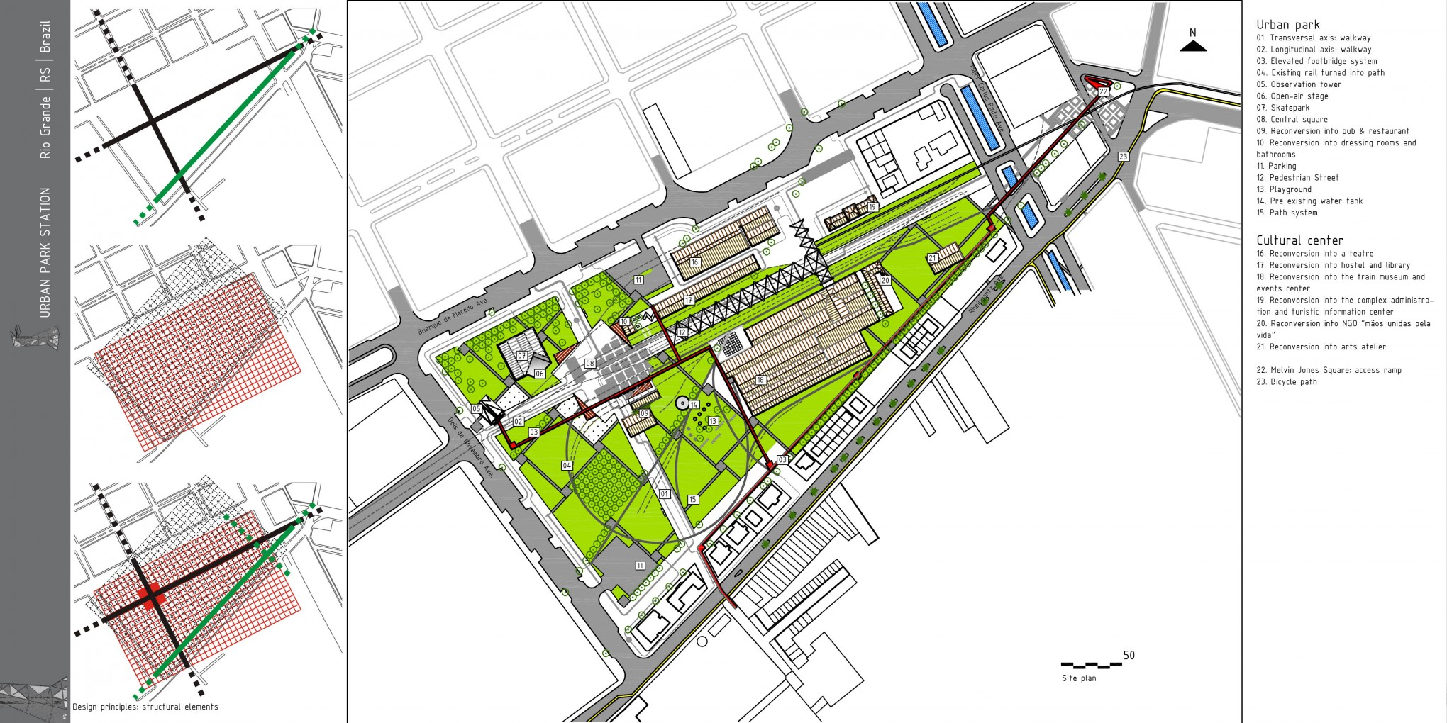 Archiprix 2011 urban station park Site plan design