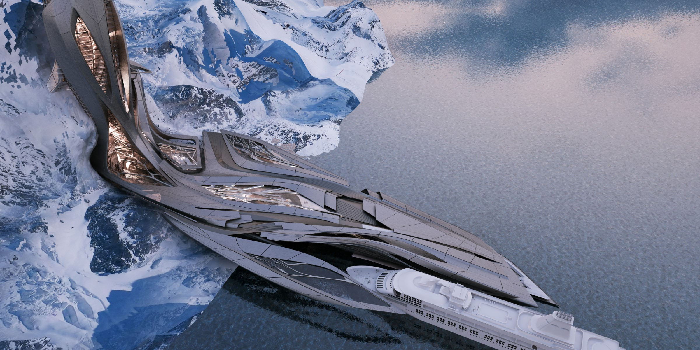Transformable Antarctic Research Facility [2400×1200] (Designer: Sergiu Radu Pop)